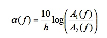 Attenuation Equation